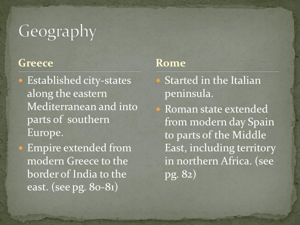 Greco-Roman Did not create a major religion.
