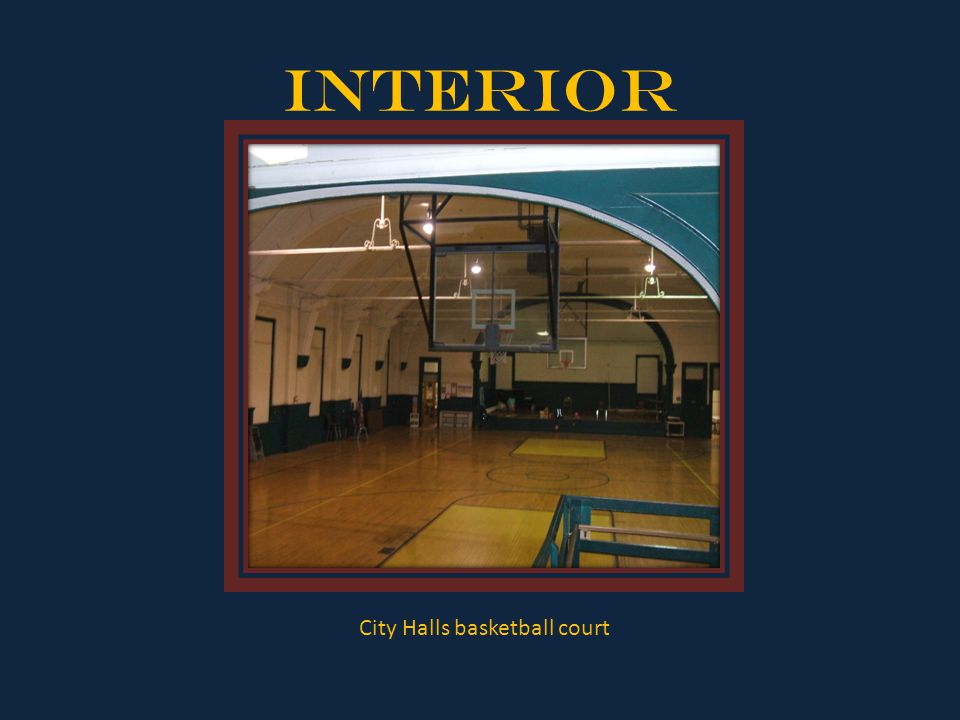 Interior City Halls basketball court