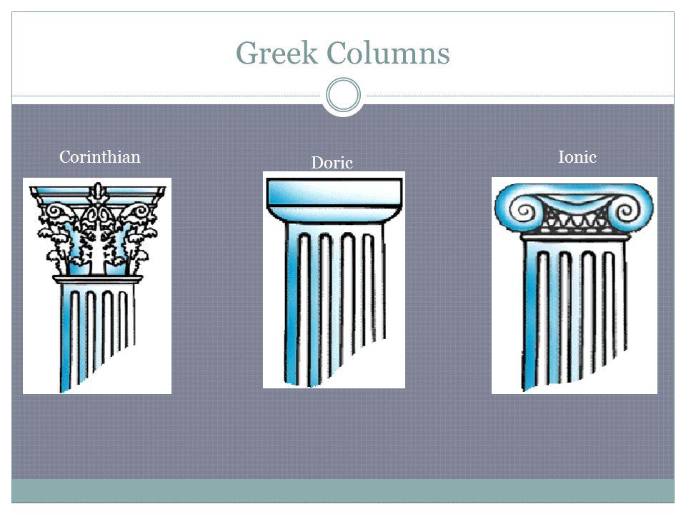 Greek Columns Corinthian Doric Ionic