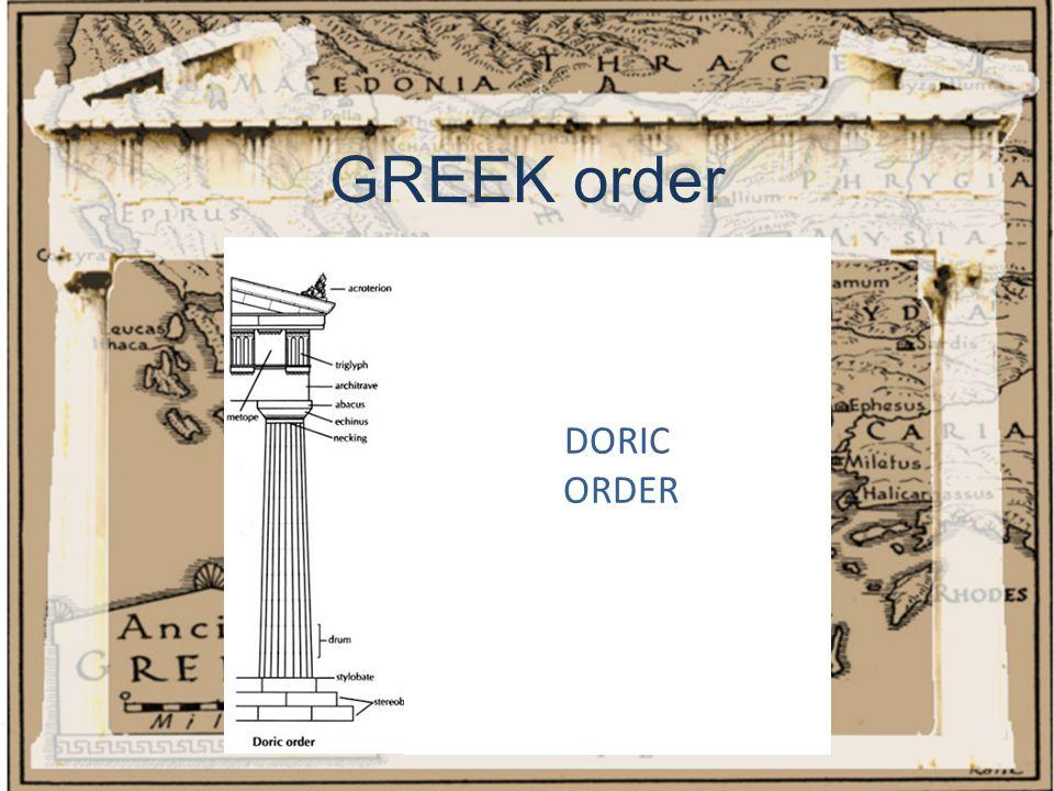 GREEK order DORIC ORDER