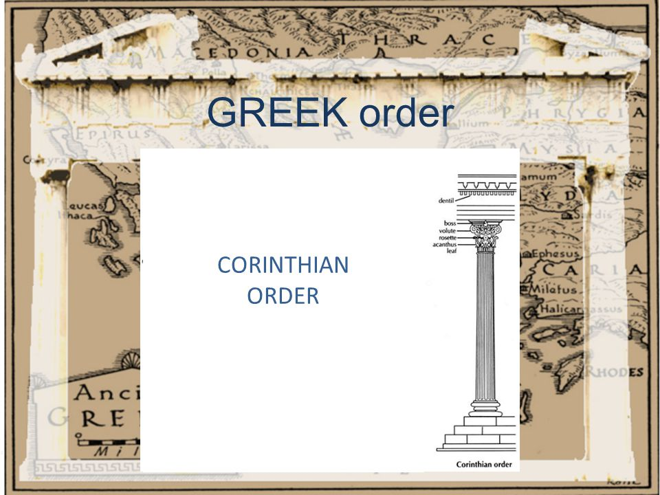GREEK order CORINTHIAN ORDER