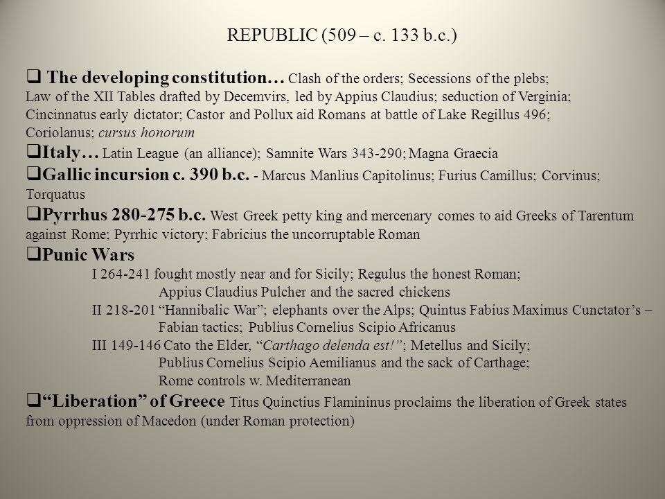 REPUBLIC (509 – c.