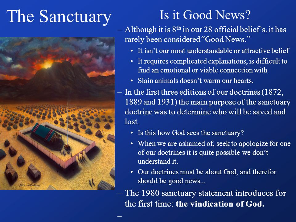 The Sanctuary Is it Good News.