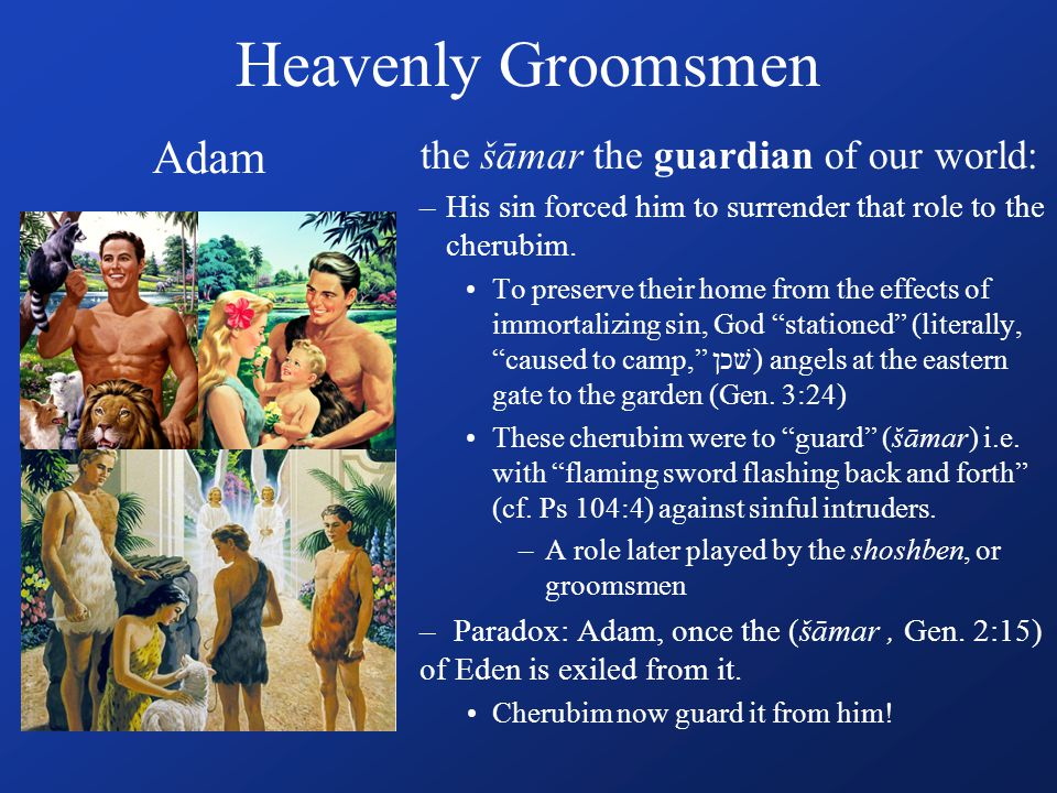 Guardians to restore Divine/Human connection Noah – gifted to see & know what others could not Abraham – trained his family in how to walk with God by faith - Heb.