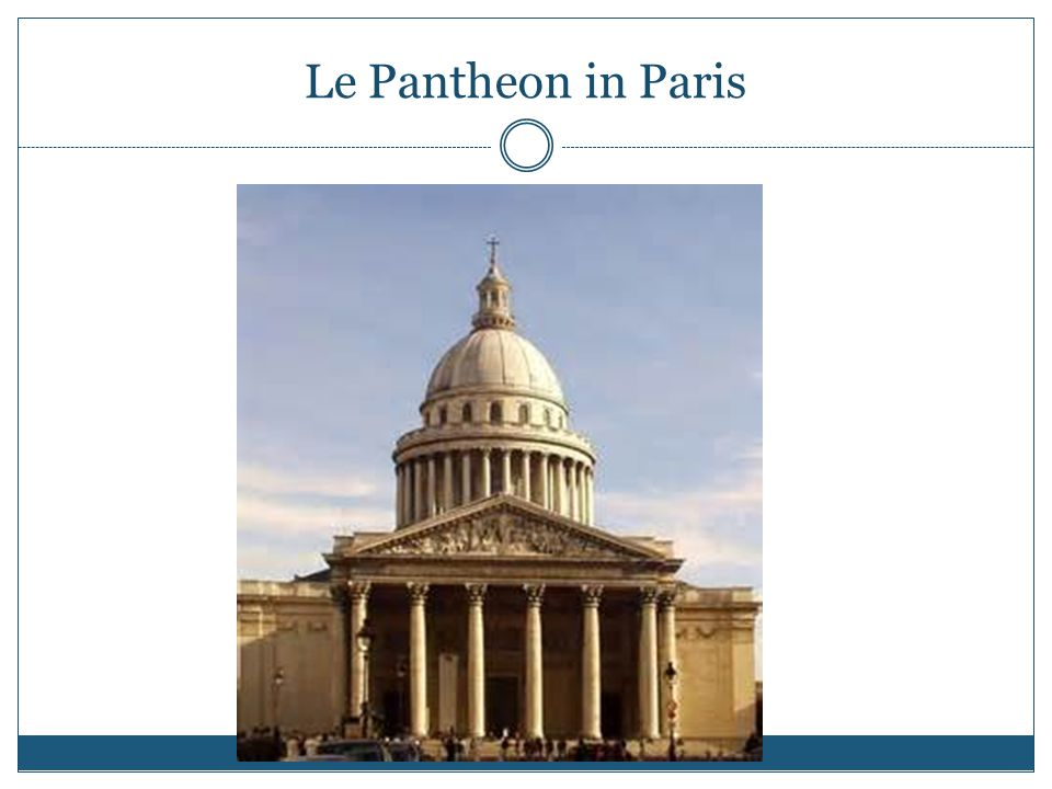 Le Pantheon in Paris