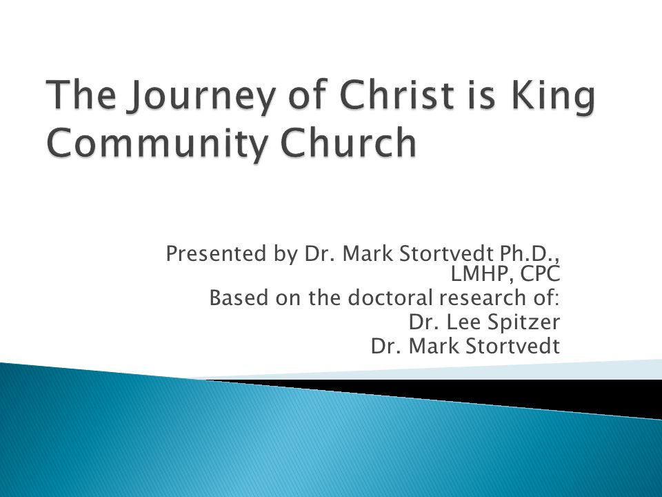 Presented by Dr. Mark Stortvedt Ph.D., LMHP, CPC Based on the doctoral research of: Dr. Lee Spitzer Dr. Mark Stortvedt