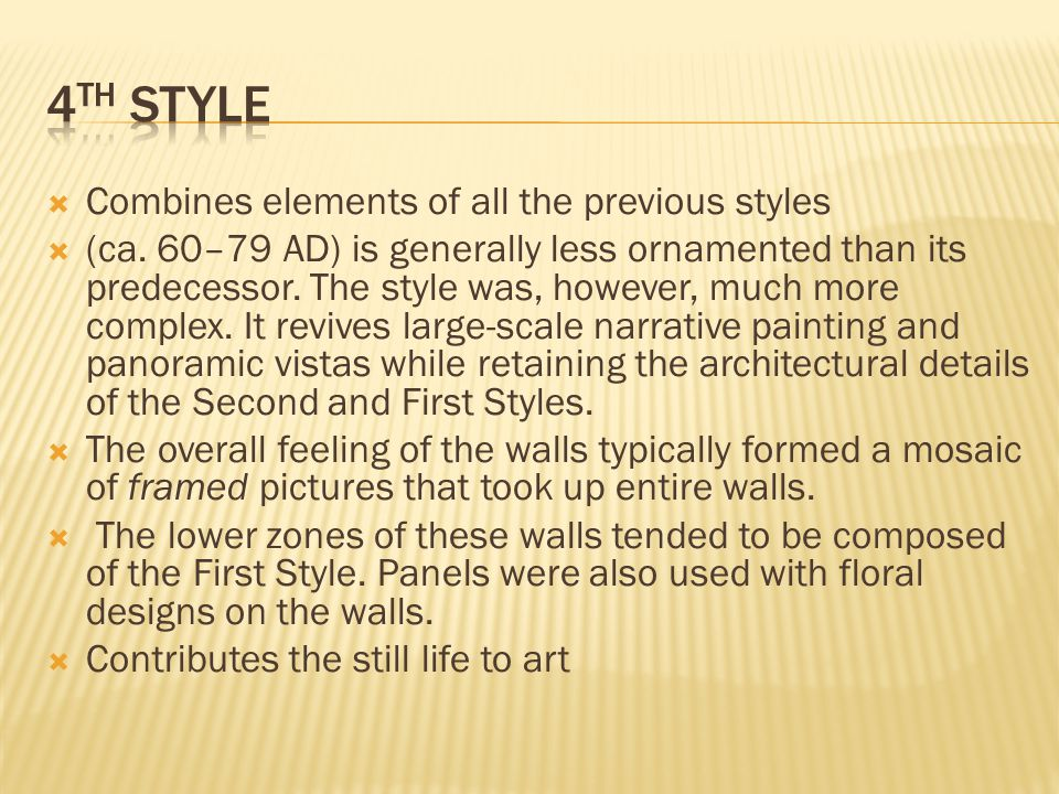  Combines elements of all the previous styles  (ca.