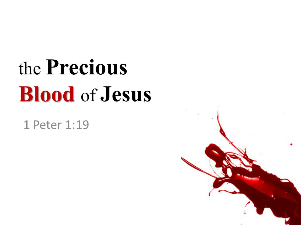Blood the Precious Blood of Jesus 1 Peter 1:19