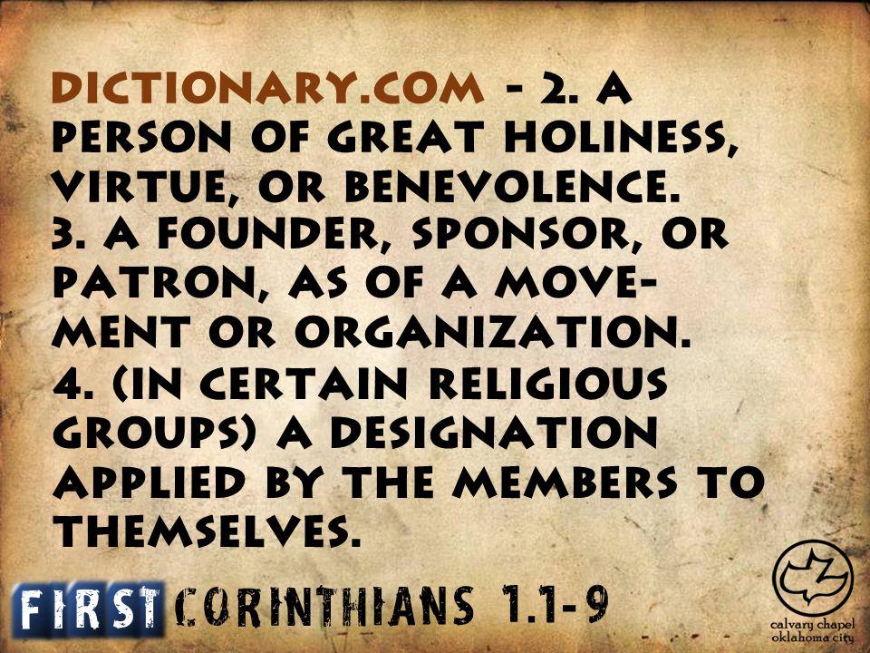 C O R I N T H I A S N 1. 19 - Dictionary.com - 2.