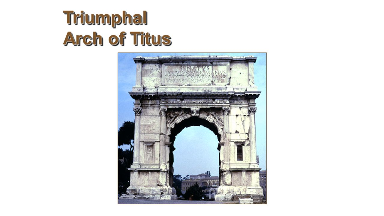 a history and analysis of the arch of titus The arch of titus (italian: arco di tito latin: arcus titi) is a 1st-century ad honorific arch, located on the via sacra, rome, just to the south-east of the roman forum it was constructed in c ad 82 by the emperor domitian shortly after the death of his older brother titus to commemorate titus's victories, including the siege of jerusalem (ad.