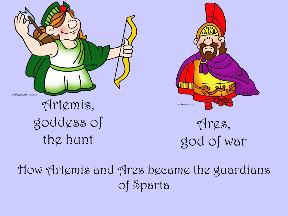 Artemis, goddess of the hunt How Artemis and Ares became the guardians of Sparta Ares, god of war
