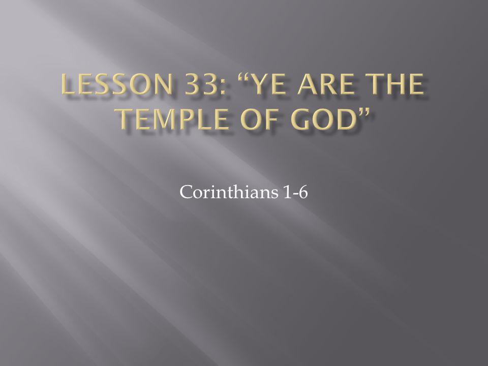 Corinthians 1-6