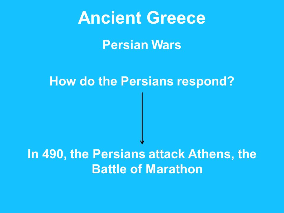 Ancient Greece Persian Wars How do the Persians respond.