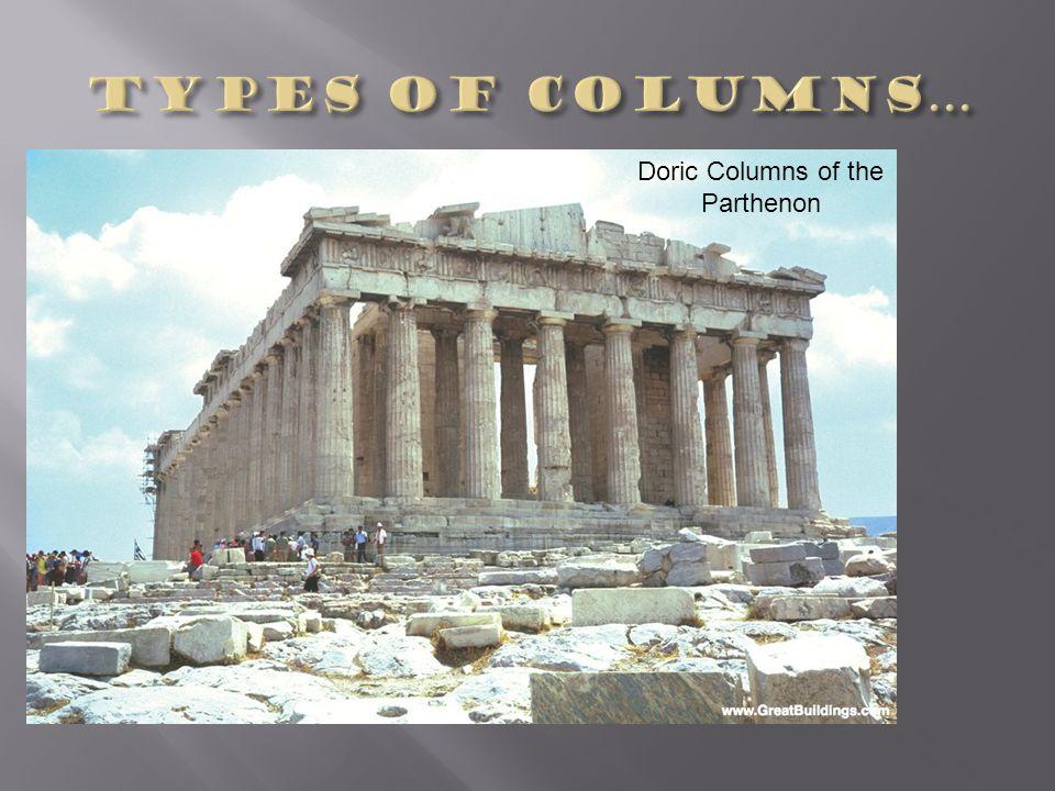Doric Columns of the Parthenon