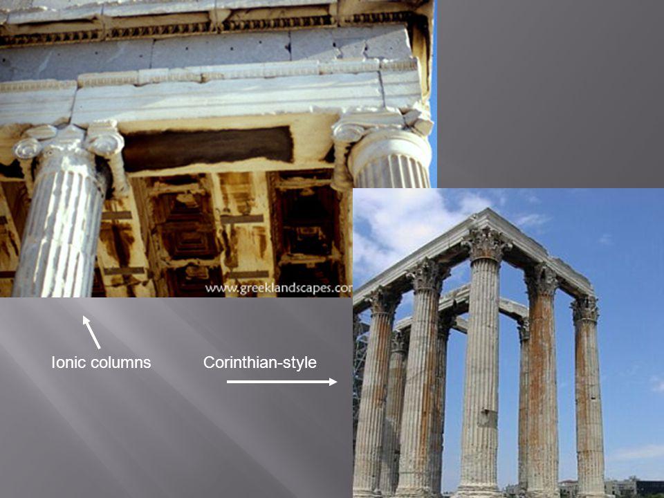 Ionic columns Corinthian-style