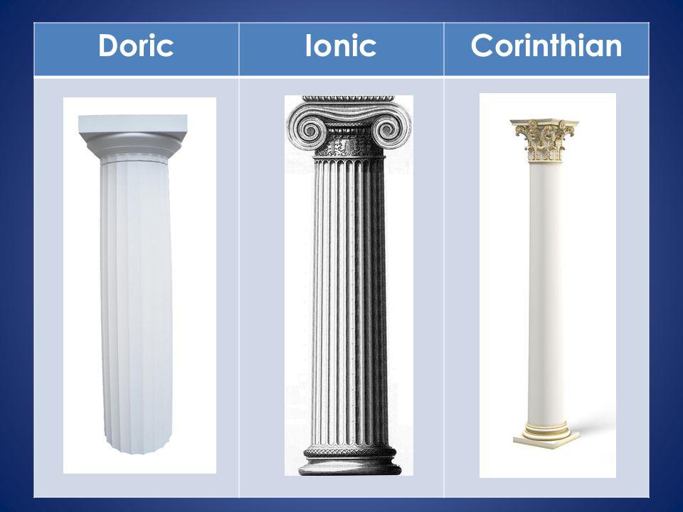 DoricIonicCorinthian