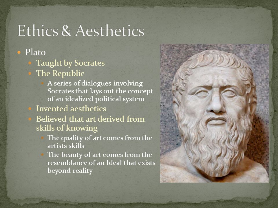Plato Taught by Socrates The Republic A series of dialogues involving Socrates that lays out the concept of an idealized political system Invented aes