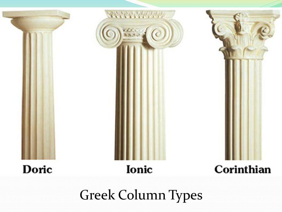 Greek Column Types