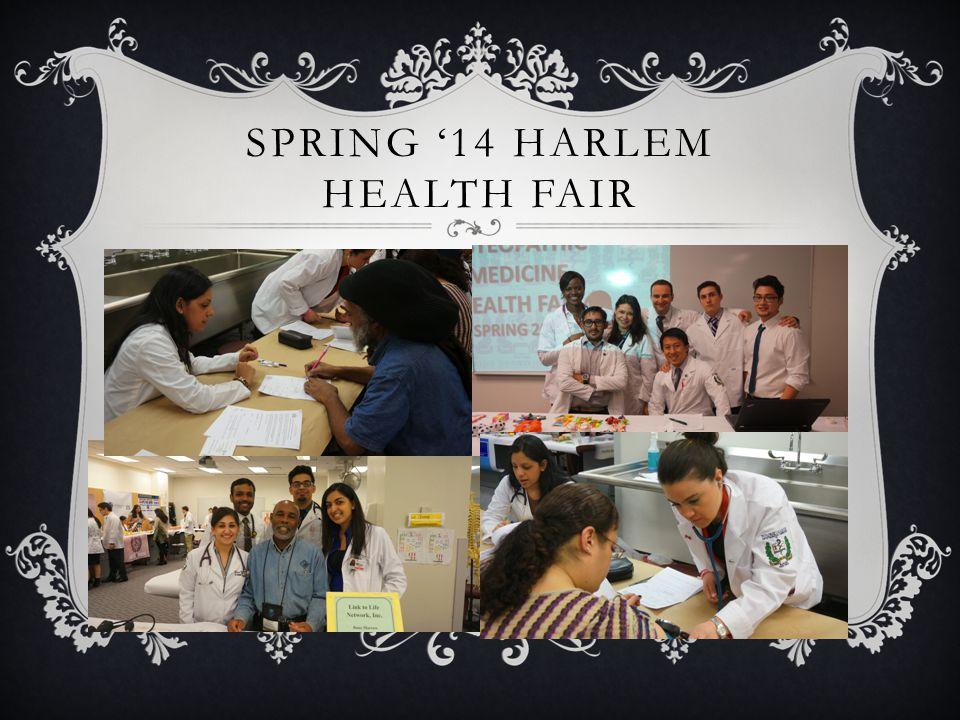 SPRING '14 HARLEM HEALTH FAIR