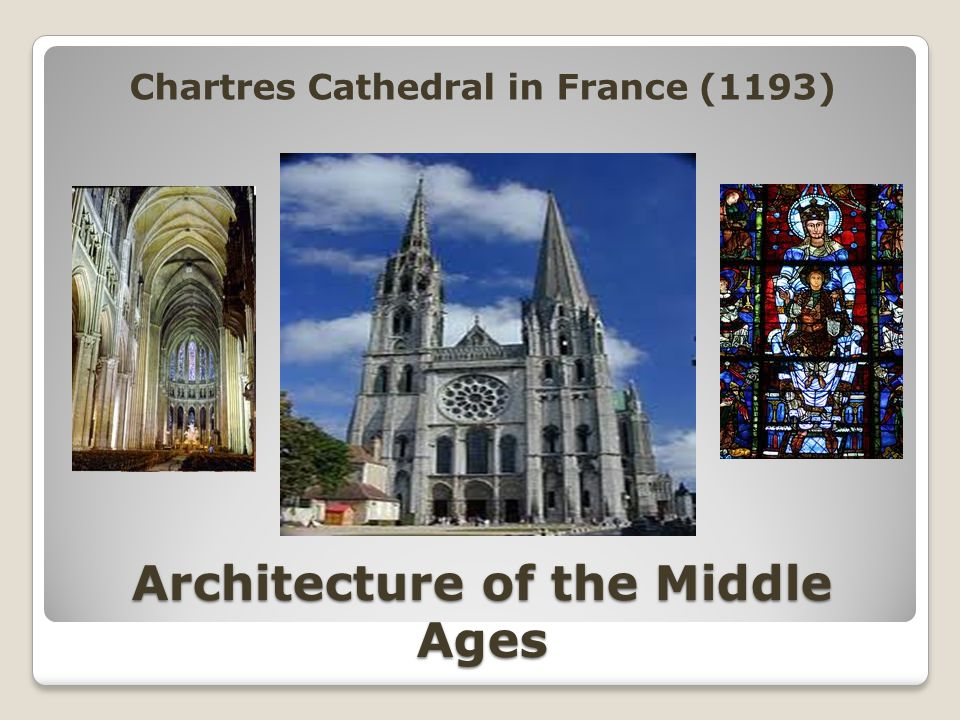 Architecture of the Middle Ages Chartres Cathedral in France (1193)