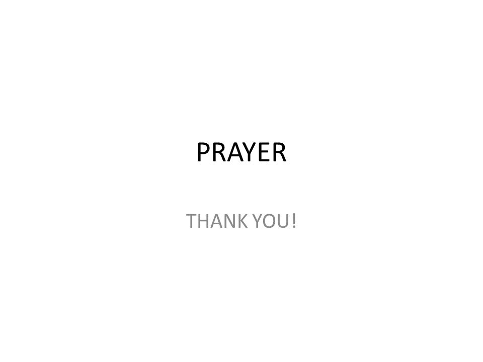 PRAYER THANK YOU!