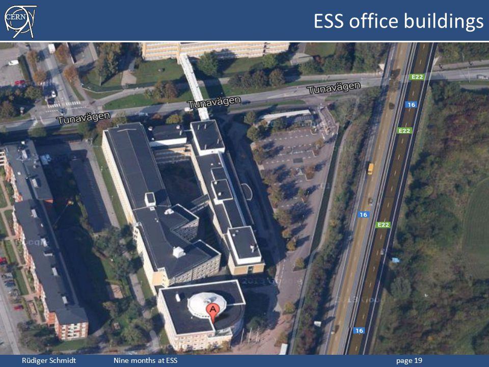 CERN Rüdiger Schmidt Nine months at ESSpage 19 ESS office buildings