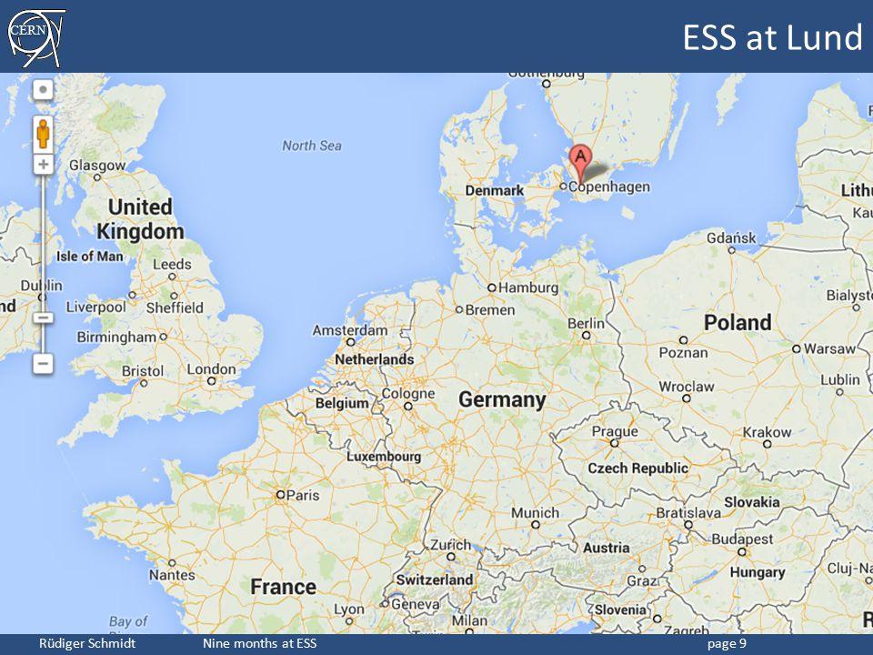 CERN Rüdiger Schmidt Nine months at ESSpage 9 ESS at Lund