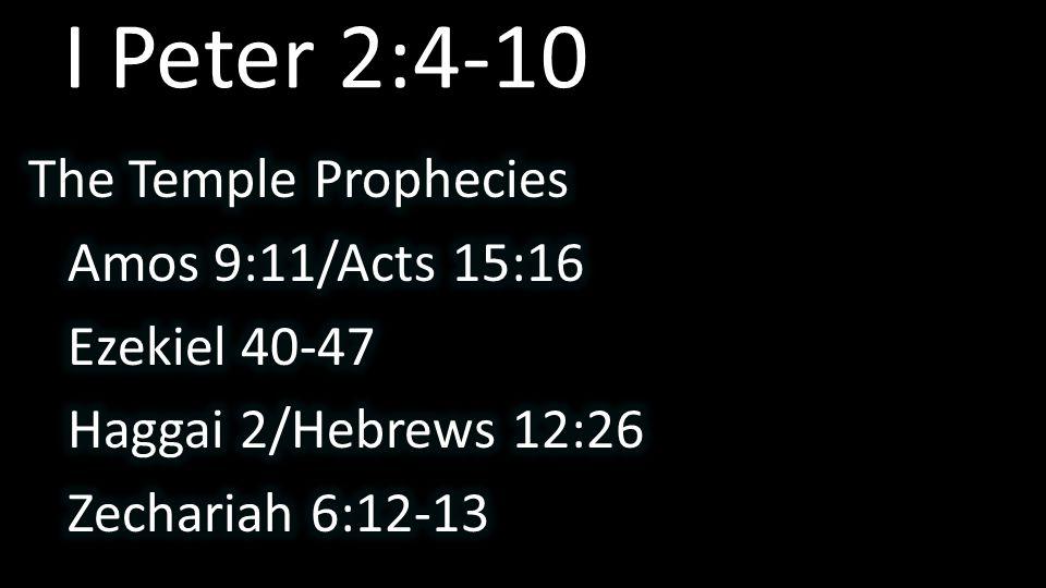 I Peter 2:4-10