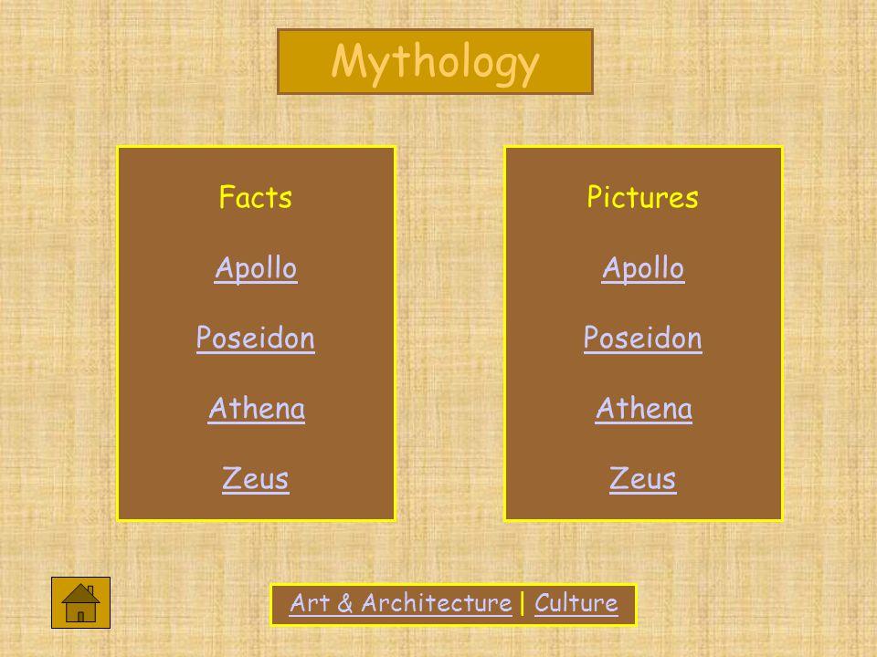 Art & ArchitectureArt & Architecture   CultureCulture Facts Apollo Poseidon Athena Zeus Pictures Apollo Poseidon Athena Zeus
