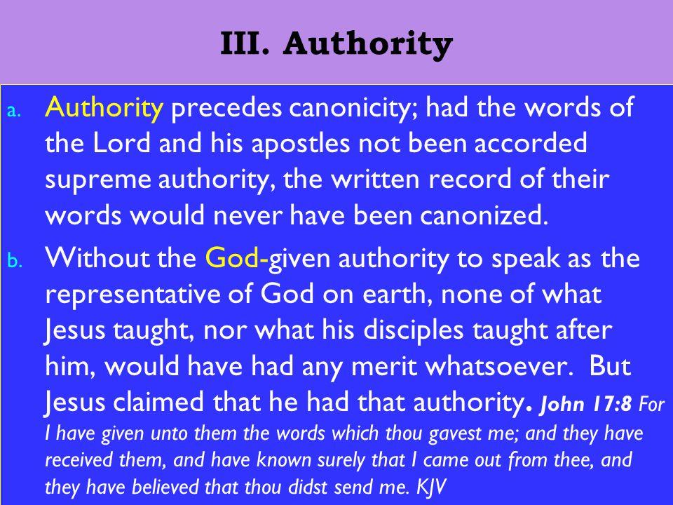 11 III. Authority a.