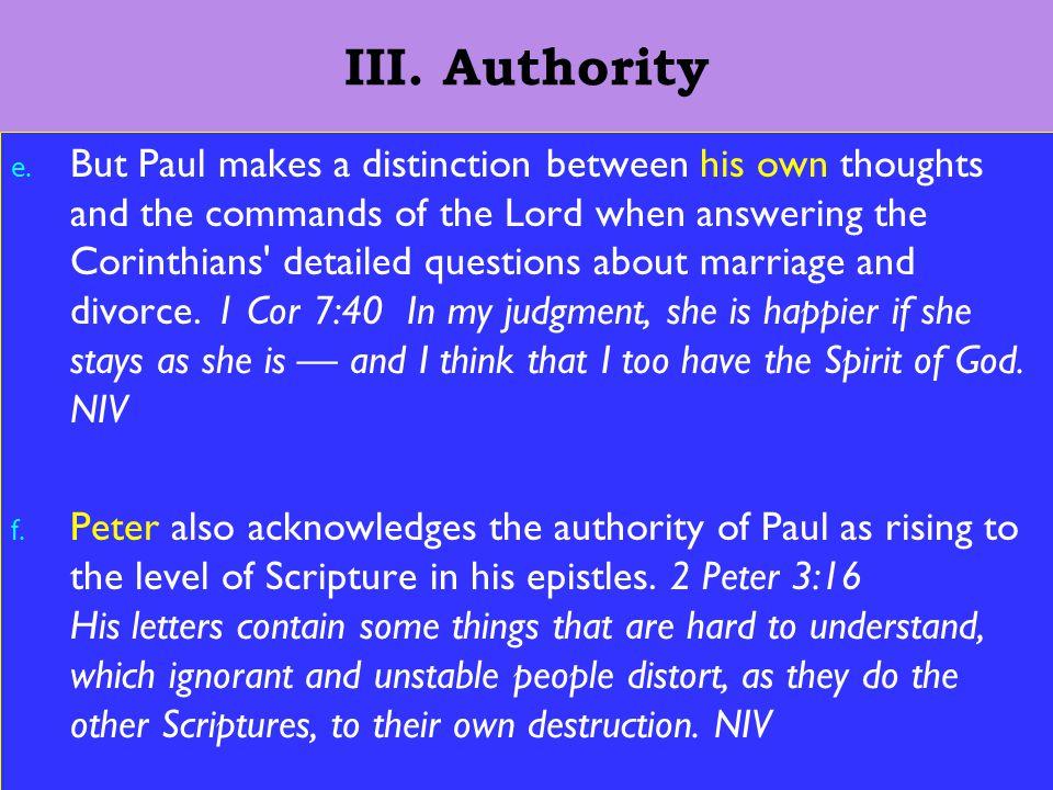 13 III. Authority e.