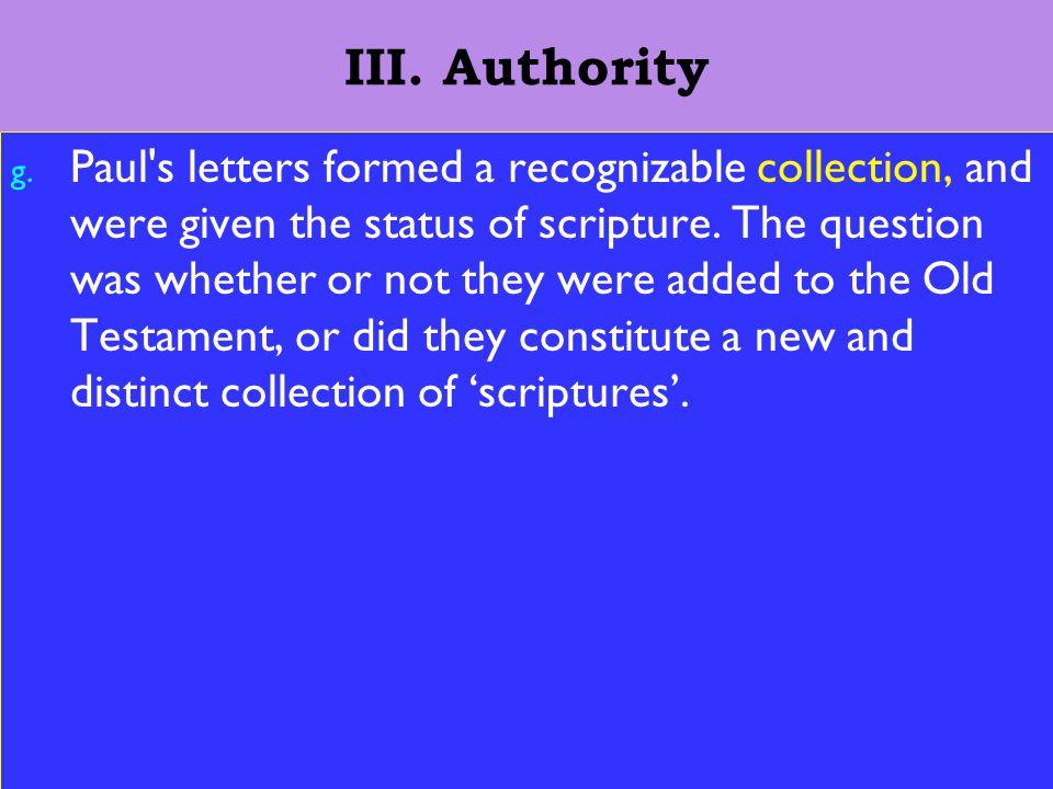 14 III. Authority g.