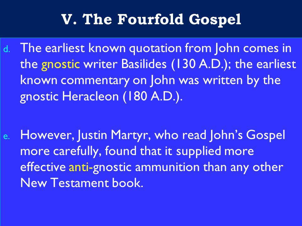 26 V. The Fourfold Gospel d.