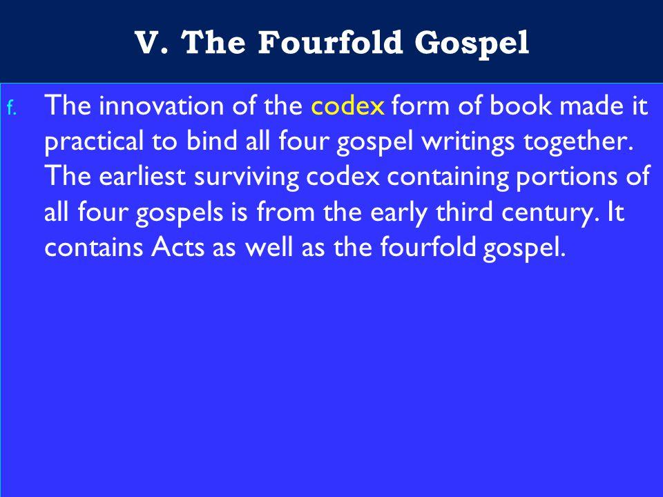 27 V. The Fourfold Gospel f.