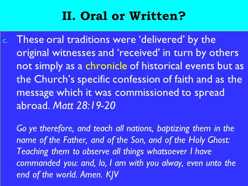 6 II. Oral or Written. c.