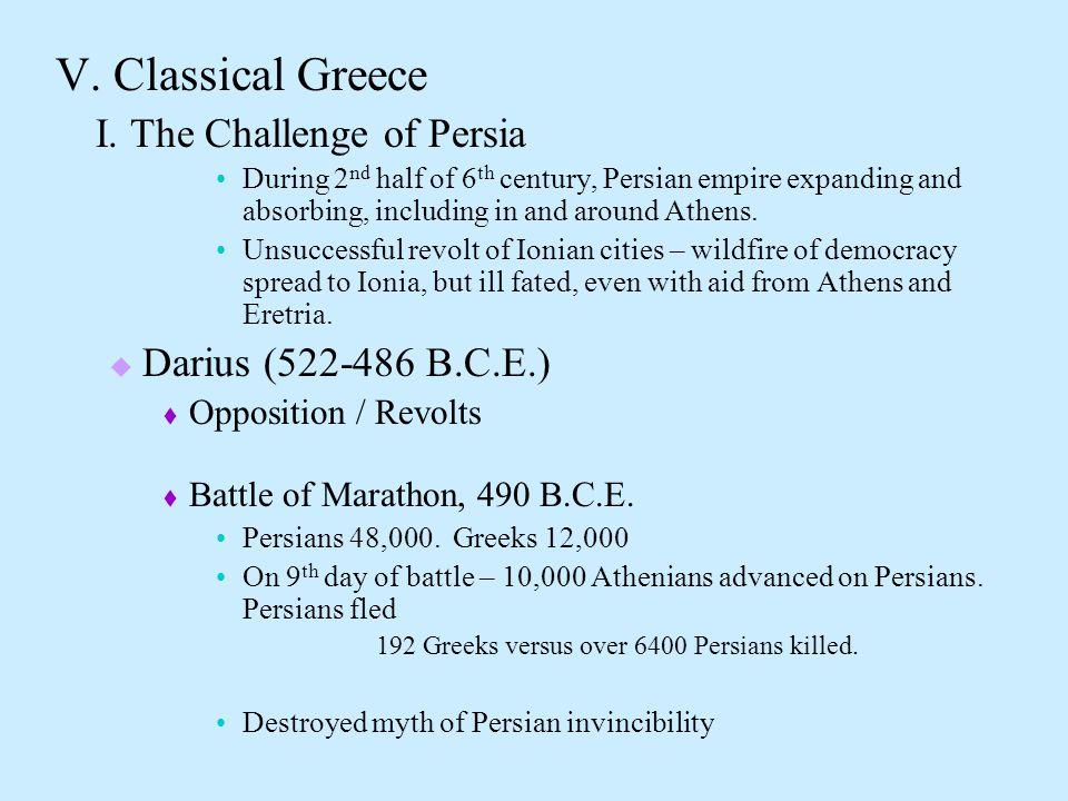 V. Classical Greece I.