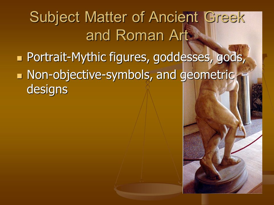 Subject Matter of Ancient Greek and Roman Art Portrait-Mythic figures, goddesses, gods, Portrait-Mythic figures, goddesses, gods, Non-objective-symbol