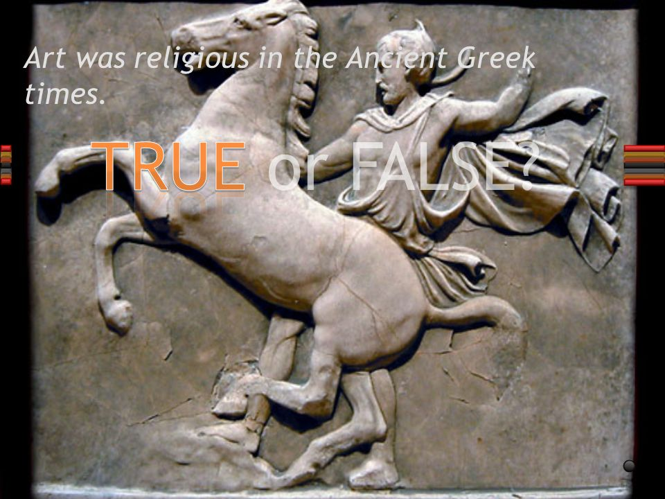 TRUE or FALSE? The temples were made of clay bricks.