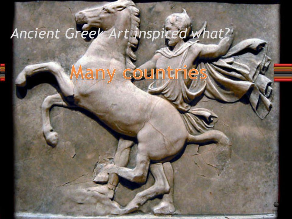 TRUE or FALSE? Ancient Greek art is divided into 3 topics