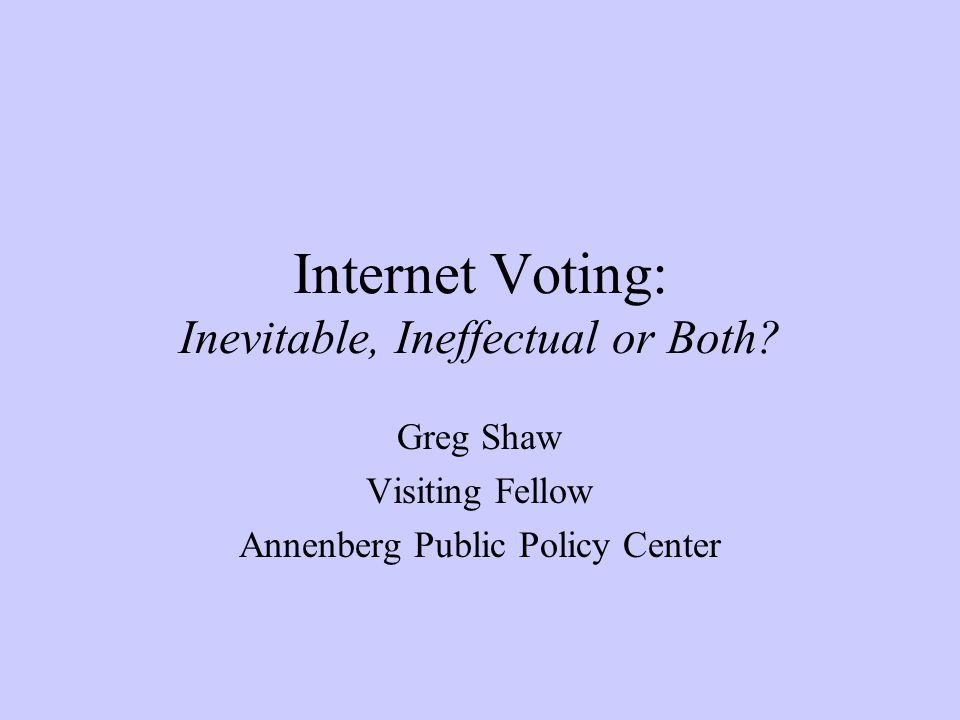 What is Internet Voting.
