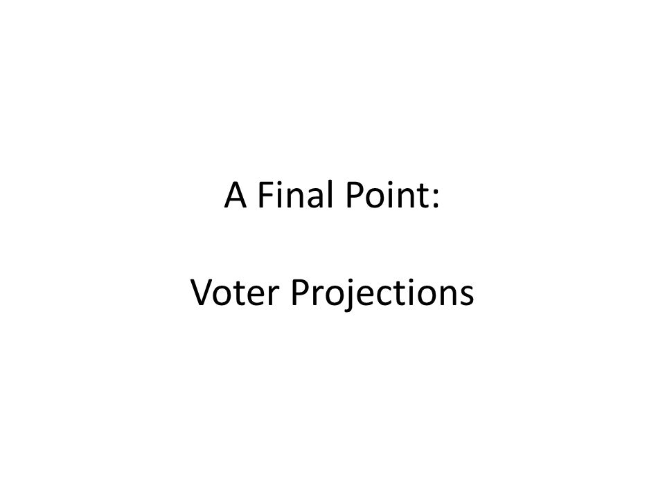 A Final Point: Voter Projections