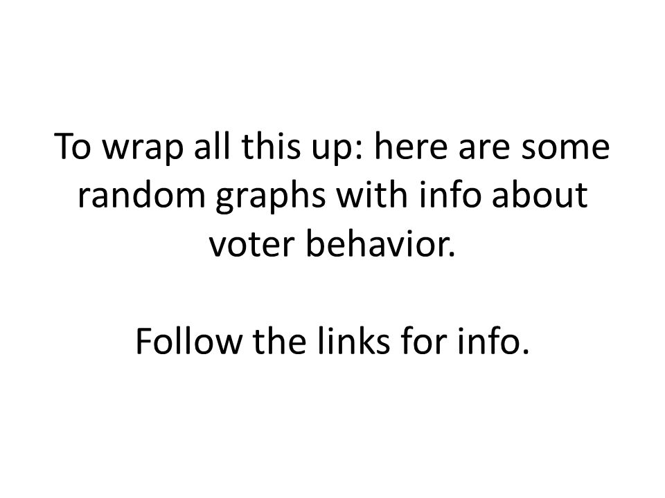 To wrap all this up: here are some random graphs with info about voter behavior.