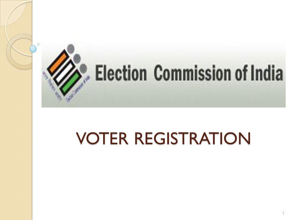 VOTER REGISTRATION VOTER REGISTRATION 1
