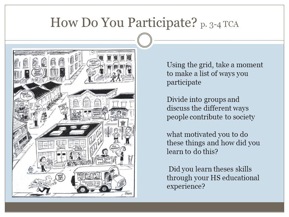 How Do You Participate. p.
