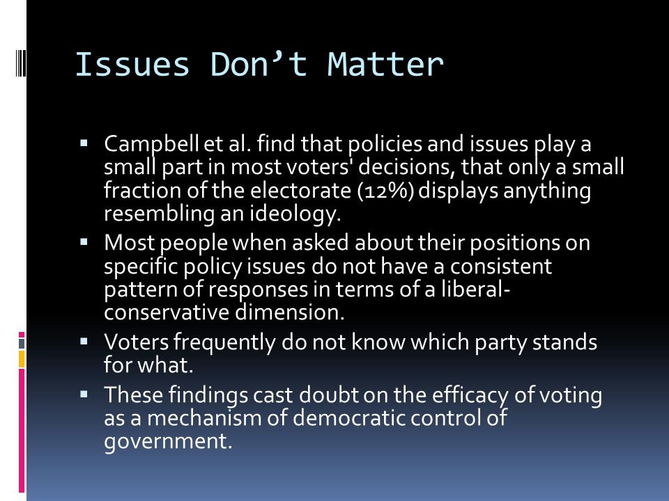 Campaigns & Issues 1.