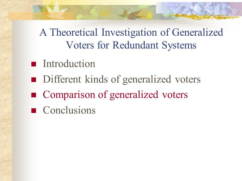 3 Formalized majority vs.formalized plurality 1.