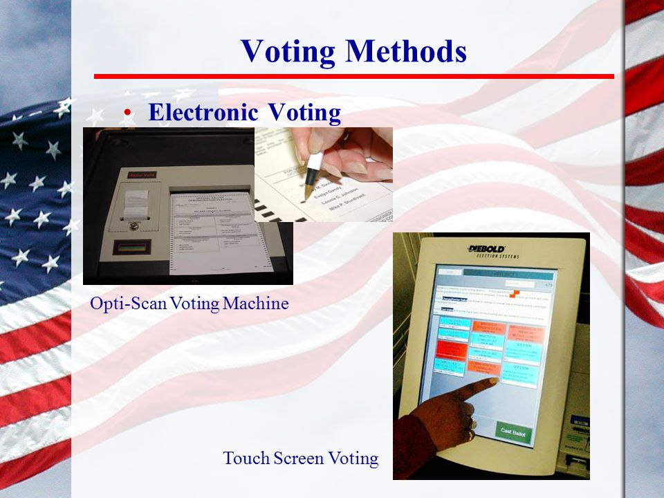 Electronic Voting Opti-Scan Voting Machine Touch Screen Voting