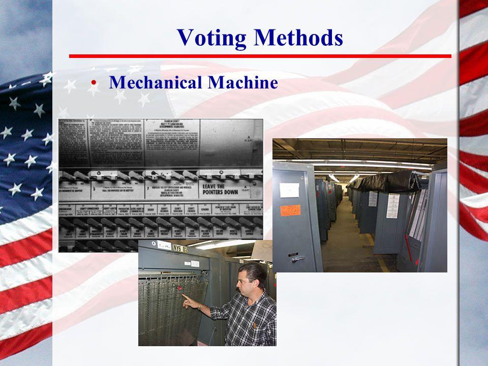 Voting Methods Mechanical Machine