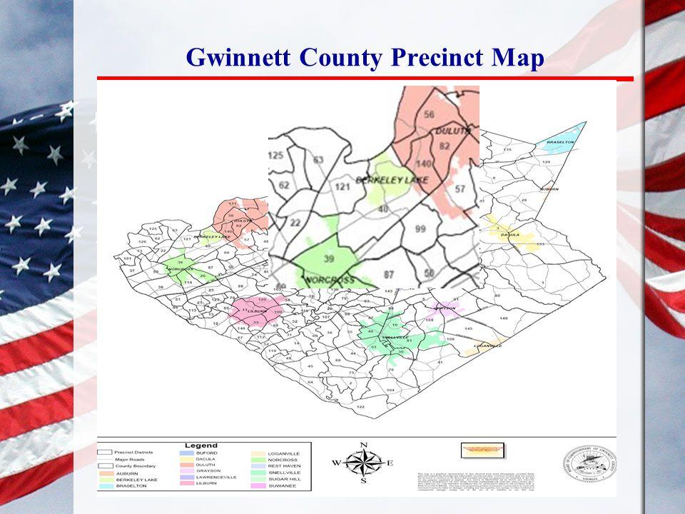 Gwinnett County Precinct Map