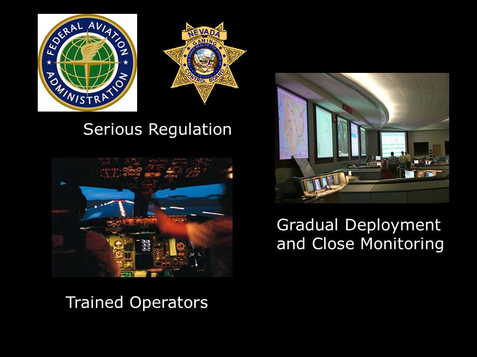 Trained Operators Serious Regulation Gradual Deployment and Close Monitoring